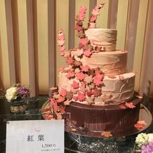 ケーキカット用ケーキ(見本展示)紅葉