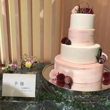 ケーキカット用ケーキ(見本展示)手毬