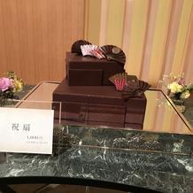 ケーキカット用ケーキ(見本展示)祝扇