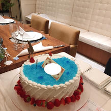アリエルイメージのケーキ
