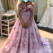 一番気に入ったカラードレスです。