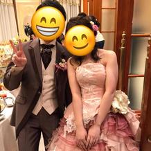 カラードレス(新郎はベストを白に)