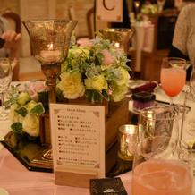 テーブルが素敵