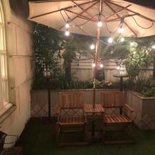 お庭が付いていて、夜の雰囲気抜群です!
