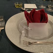 長テーブルの席