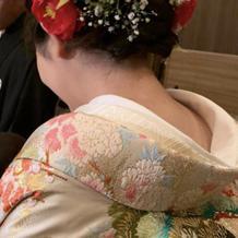 和装の髪飾りは100均で揃えました