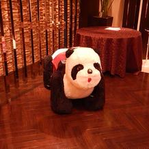 入場時に使用したパンダ