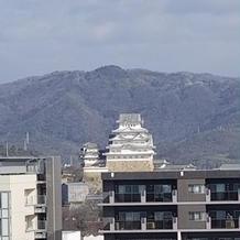 客室から姫路城が見えます