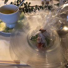 スープ、お魚料理