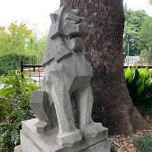 東郷神社の狛犬です
