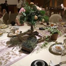 ブライダルフェア時のテーブルコーデ