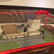ロビーにある館内模型。手作りらしいです。