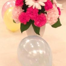 ゲストテーブル・装花
