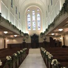 120名近く入れる大聖堂