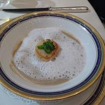 ホタテとキノコのスープ!美味しい