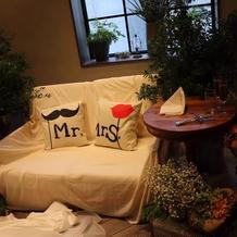 ソファーの高砂がとても素敵でした。