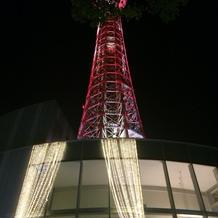 披露宴後のマリンタワー