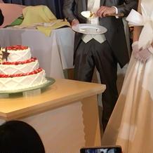 ケーキ可愛かったです!