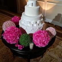 ウェディングケーキの装飾