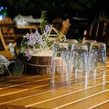 披露宴で使用した装花を二次会使用