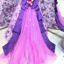 当日に着たカラードレス