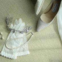 ウエディングドレスの小物