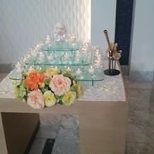 キャンドル装花