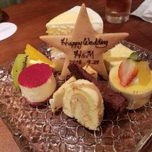 控え室のケーキ