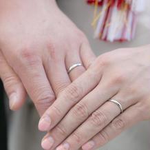 1ヶ月前にできた指輪。ぎりぎりです。