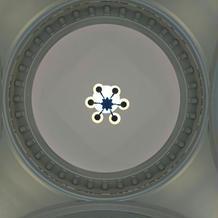チャペルの前の天井