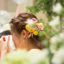 お花もイメージ通り