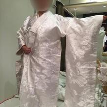 白無垢の試着