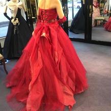 赤 ドレス