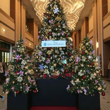 時期的にホテル全体がクリスマス装飾