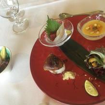 前菜とフォアグラのお寿司