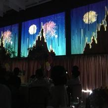 お城の絵のスクリーンとってもステキでした