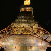 式場から見える東京タワーの景色