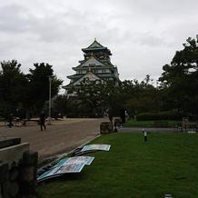 大阪城が目の前に