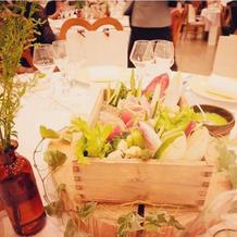 お花ではなく、長野の野菜でおもてなし