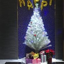 式場のクリスマスツリーです。