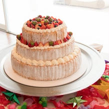 ケーキ周りは自分で飾り付けできなかった…