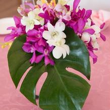 各テーブルお花