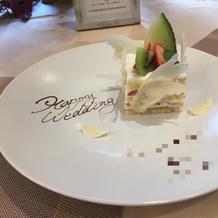 サプライズでケーキに名前とメッセージ