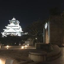 本当に大阪城が近いです