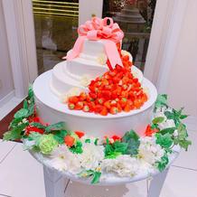 想像より小さかったケーキ